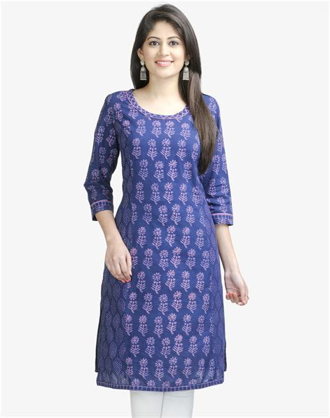 kurti pattern free cotton printed scoop neck long kurta salwar patterns