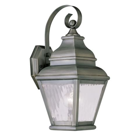 Pewter Outdoor Lighting Livex Lighting Exeter Vintage Pewter Outdoor Wall Light 2601 29 Destination Lighting