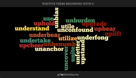 positive verbs that start with u quot words quot positive