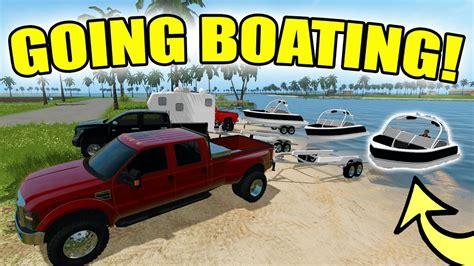 farming simulator boat videos farming simulator 2017 going boating touring the