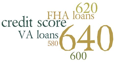 fha and va minimum credit scores increase