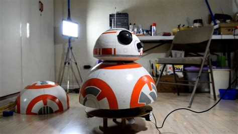 kid builds bb  robot   beach ball deodorant rollers