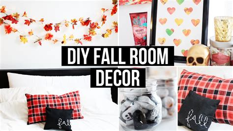 how to make room decorations diy fall room decor affordable cozy laurdiy youtube