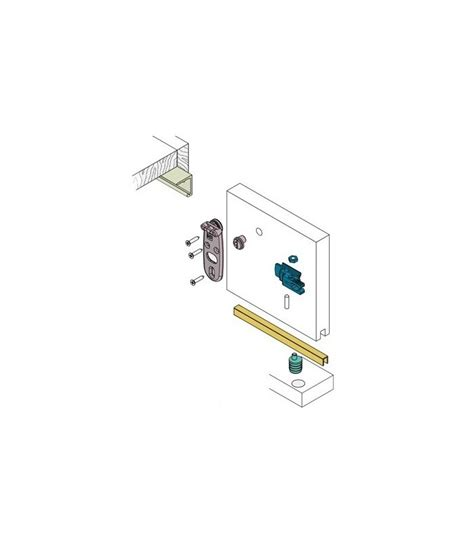 Track 40 Cm Single track koblenz system 1010 single door in cm