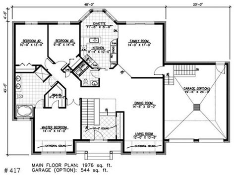 House Plans With Bay Windows by One Story Bungalow House Plans Bay Window Small House