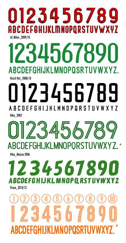 Custom Font Nameset Argentina World Cup 2006 football teams shirt and kits fan font set part 1