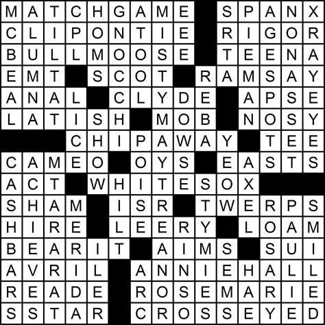 recurring themes crossword puzzle clue puzzle 3 themeless 1 neville fogarty