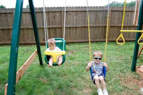 new swing set our motto is patience new swing set