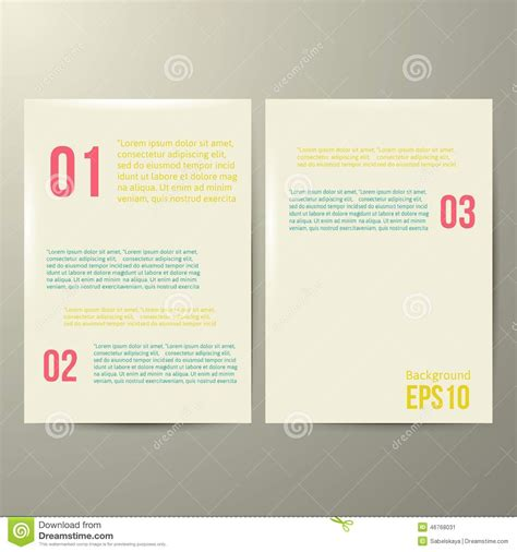 Design Template White Paper Vector Illustration Stock Vector Image 46768031 White Paper Design Template