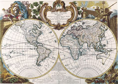 antique maps antique maps of the worlddouble hemisphere mapgeorge louis