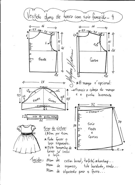 esquema de vestido vestido de festa com saia franzida diy marlene mukai