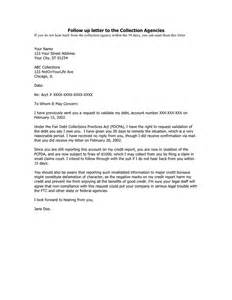 follow up letter to the collection agencies in word and