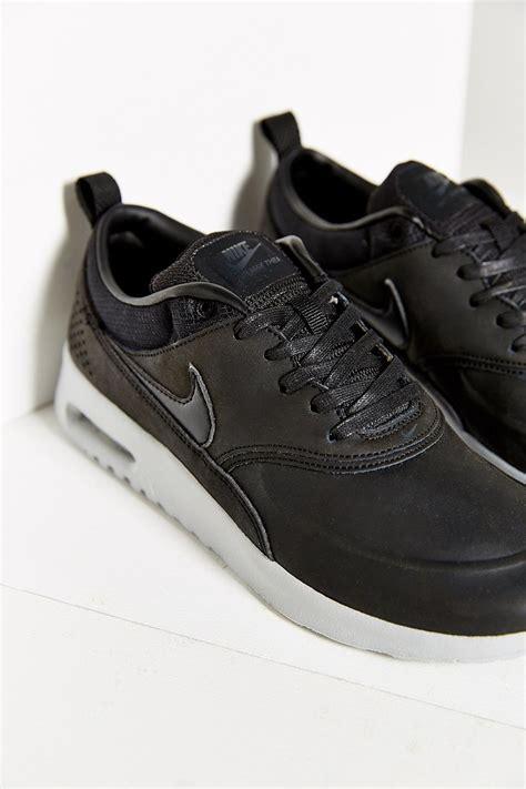 nike air max thea sneakers nike air max thea premium sneaker in black lyst