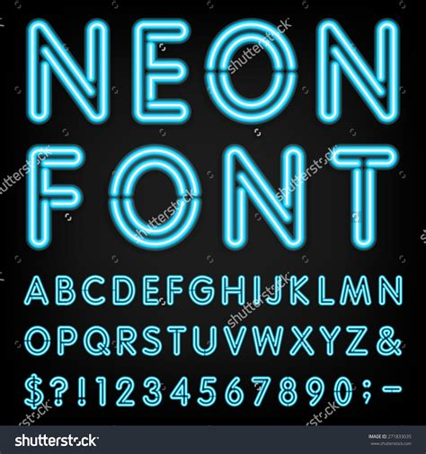 typography maker neon font generator fonts and clipart