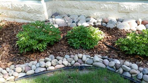 river rock flower bed customer projects absolute natural stones inc