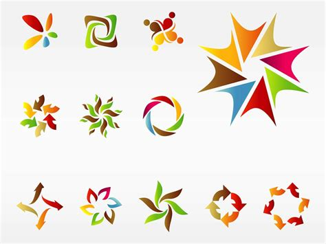 free logo vector templates colorful logo templates