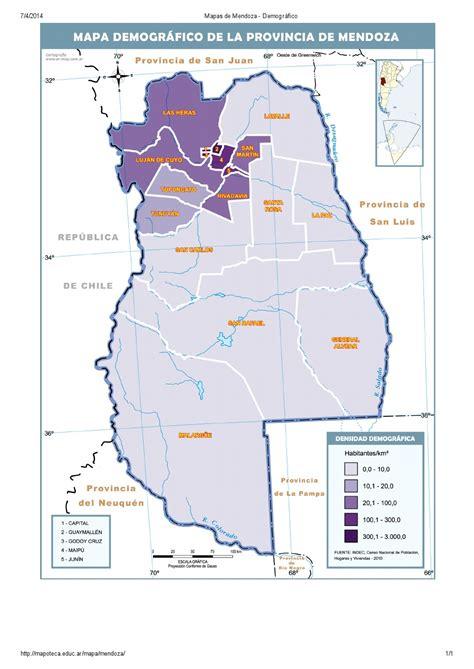 Mapoteca La Biblioteca De Mapas De Educ Ar | mapa para imprimir de mendoza argentina mapa demogr 225 fico