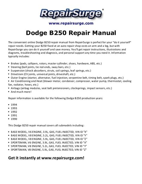 service manual free car repair manuals 1994 dodge stealth interior lighting 1994 dodge dodge b250 repair manual 1990 1994
