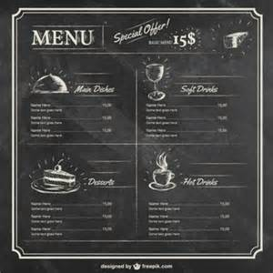 editable menu template free editable restaurant menu template vector free