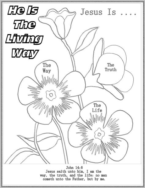 coloring page jesus is the way children s gems in my treasure box he is the living way