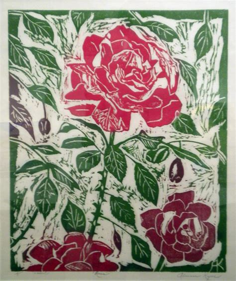 find tattoo inspiration kyros roses woodcut print 19 x 16 5 upcoming projects
