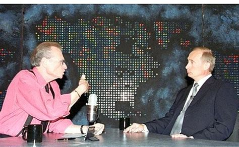 To Be Interviewed By Larry King by Vladimir Putin Gave An To Larry King An