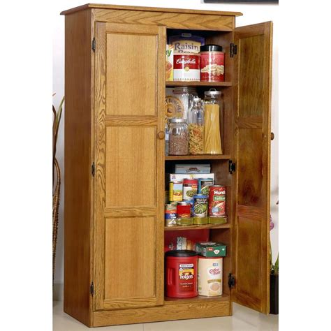 furniture freestanding pantry cabinet broom closet