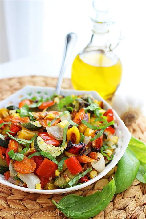 Comfort Of Cooking by Easy Roasted Summer Vegetables