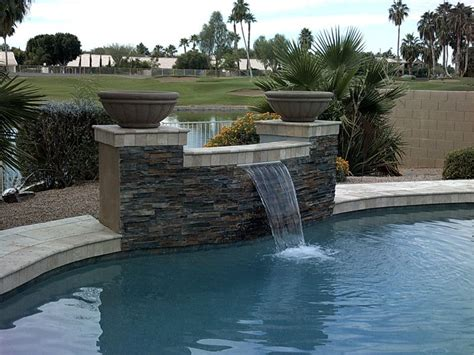 pool waterfalls ideas waterfall feature into swimming pool pool ideas