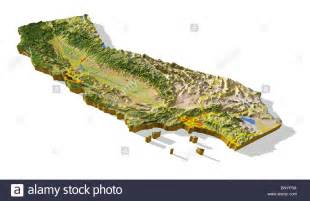 california relief map california 3d relief map cut out with areas and