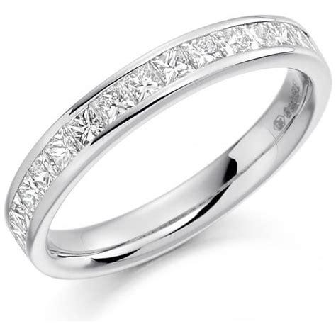 womens platinum set wedding band or eternity ring