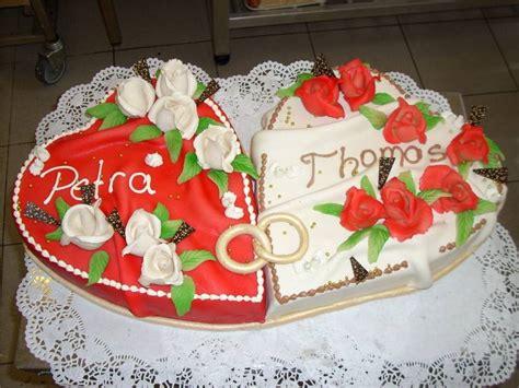 Hochzeitstorte Zwei Herzen by Hochzeitstorten Dorfcafe B 228 Ckerei Grafe
