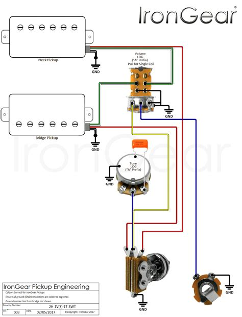 wiring diagram 2 humbuckers 1 volume 1 tone 43 wiring