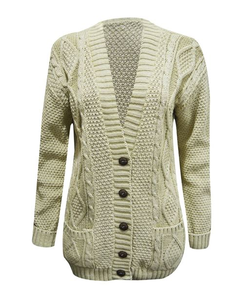 cable knit cardigan womens womens chunky cable knit cardigan button