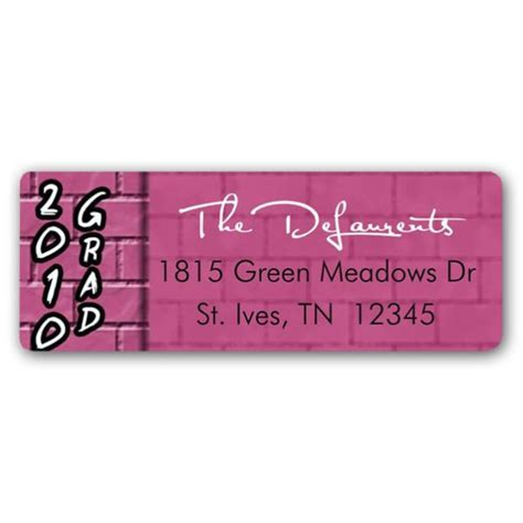 graduation silver blue return address labels paperstyle brick mod blue graduation return address labels paperstyle