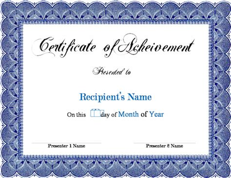 Award Certificate Template Word Microsoft Award Templates