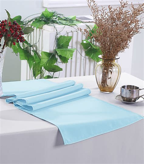 baby blue table runner baby blue polyester table runners