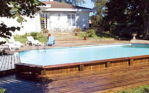 Inground Pool Decks Semi Inground Pool Dech Designs Studio Design