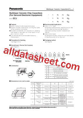 panasonic ceramic capacitor datasheet ecj datasheet pdf panasonic semiconductor