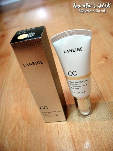 Laneige Cc laneige water base cc review animetric s world