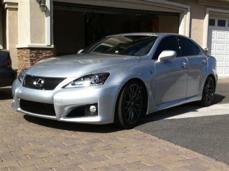 lexus isf silver ninja pic of the is f wheels blacked out one pic till