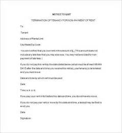 Free Notice To Quit Template notice to quit template 15 free sles exles