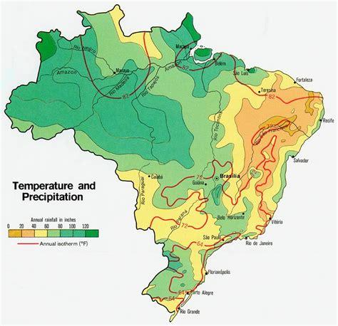 brazil temperature and precipitation map