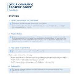 scope statement template sle project scope statement template images