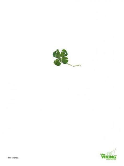 small leaved shamrock 16 most creative st s day ads 1 design per day