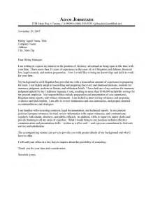 Attorney Cover Letters by Junior Attorney Cover Letter Sle Resume Cover Letter