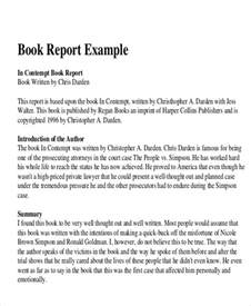 Book Report Examples 10 Sample Book Report Free Sample Example Format Download