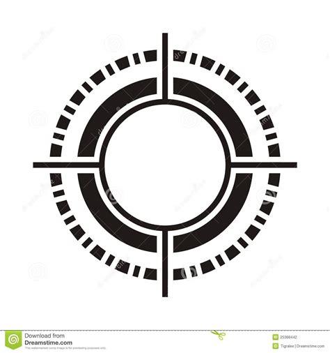 U Circular Black black circular pattern stock vector image of design
