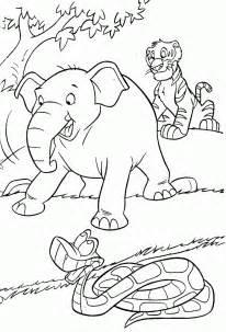 galer 237 im 225 genes dibujos el libro la selva colorear