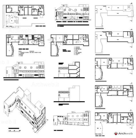Villa Savoye Floor Plan by Le Corbusier Maison La Roche 2d